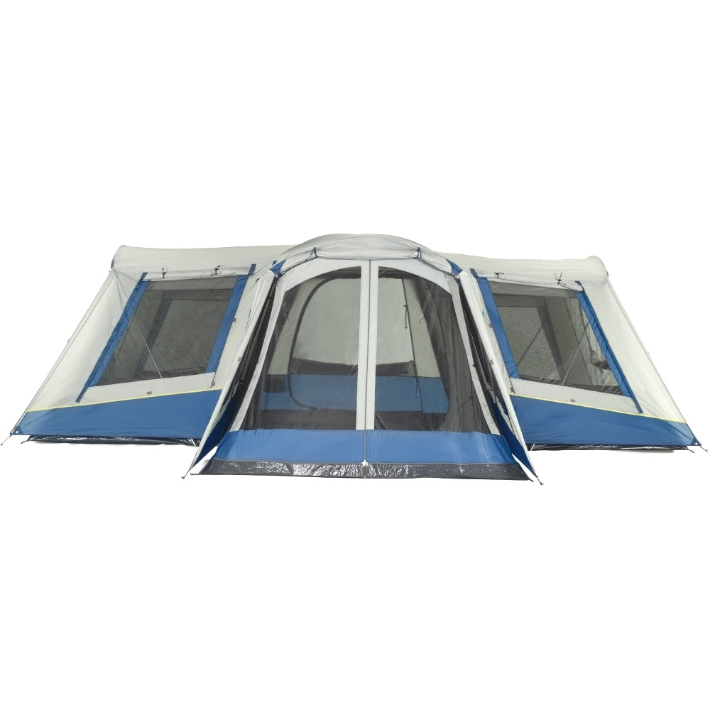OZtrail Family 12 Dome Tent - A combination of T and D doors front and internally for easy access