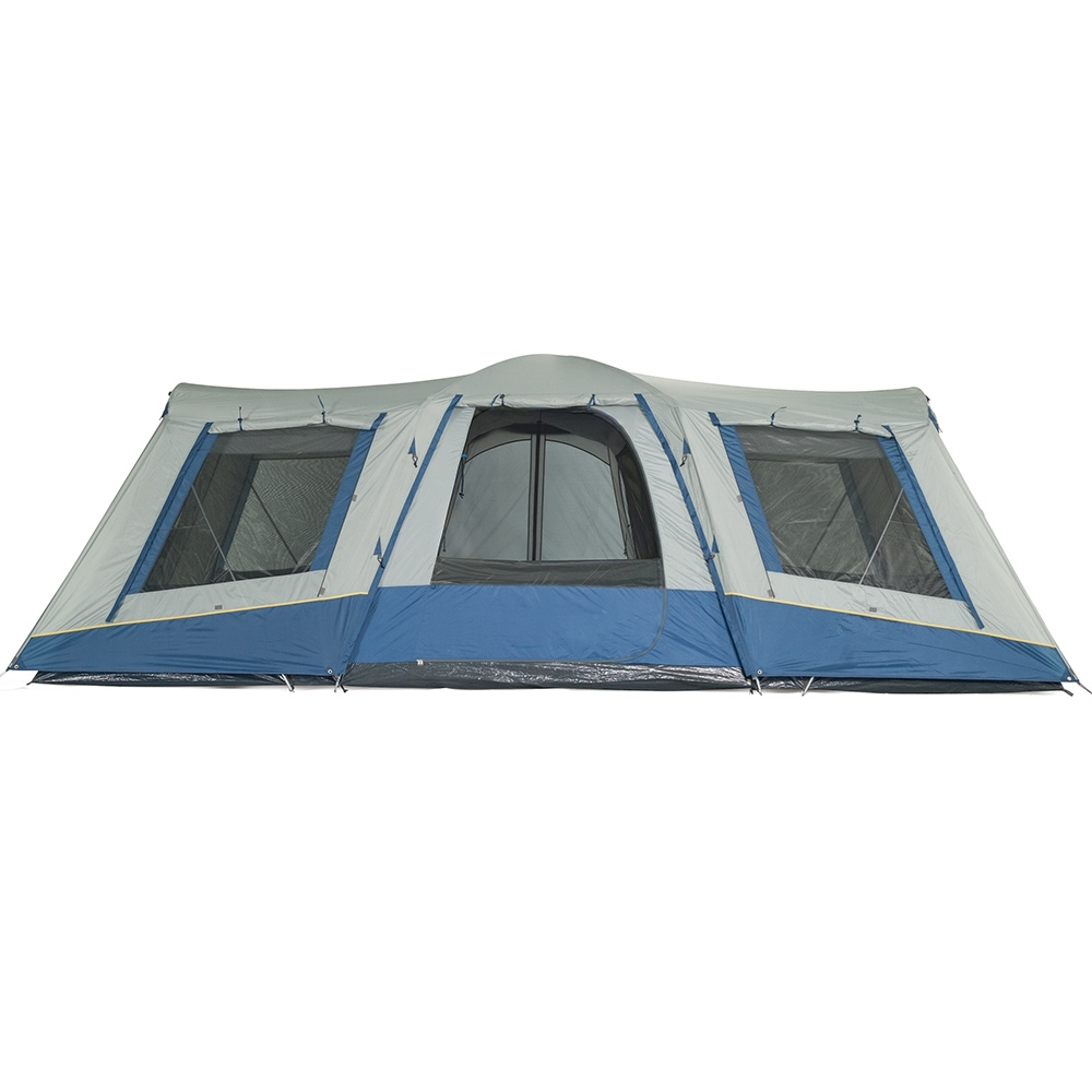 OZtrail Family 12 Dome Tent - Oversize D-shaped front, rear and side doors for easy access