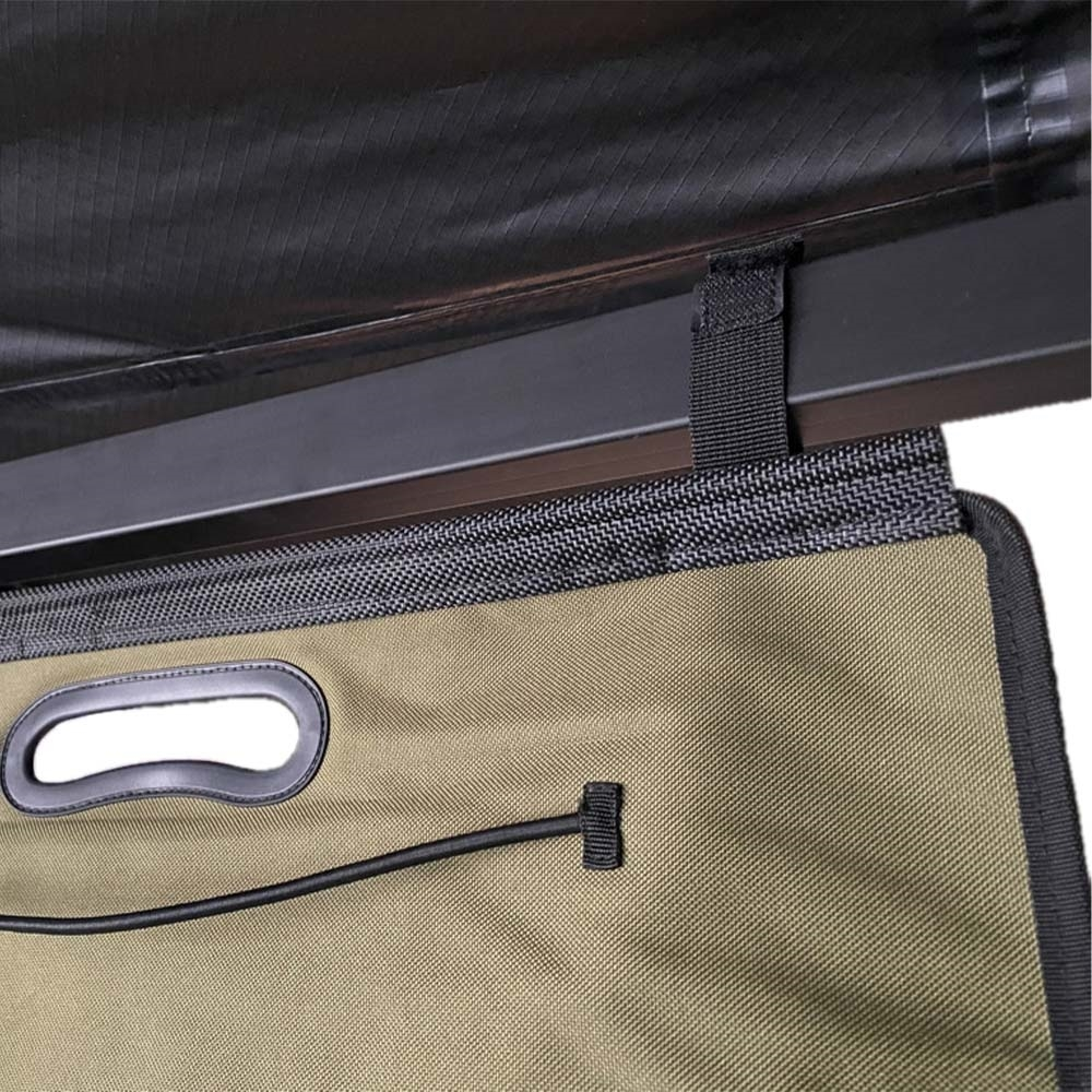 23ZERO Kitchen Sling - Use the hook & loop straps to suspend the Storage Sling from an awning
