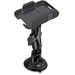 ZOLEO Universal Mount Kit - Secure the ZOLEO satellite communicator device on the windshield of a vehicle or vessel and keep it charged at the same time