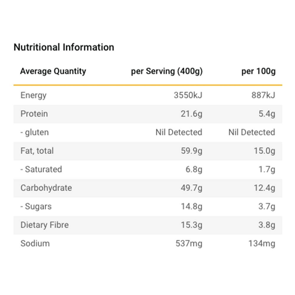 Radix Nutrition Plant-Based Mexican Chilli with Avocado - EXPEDITION 800 - Nutritional Information