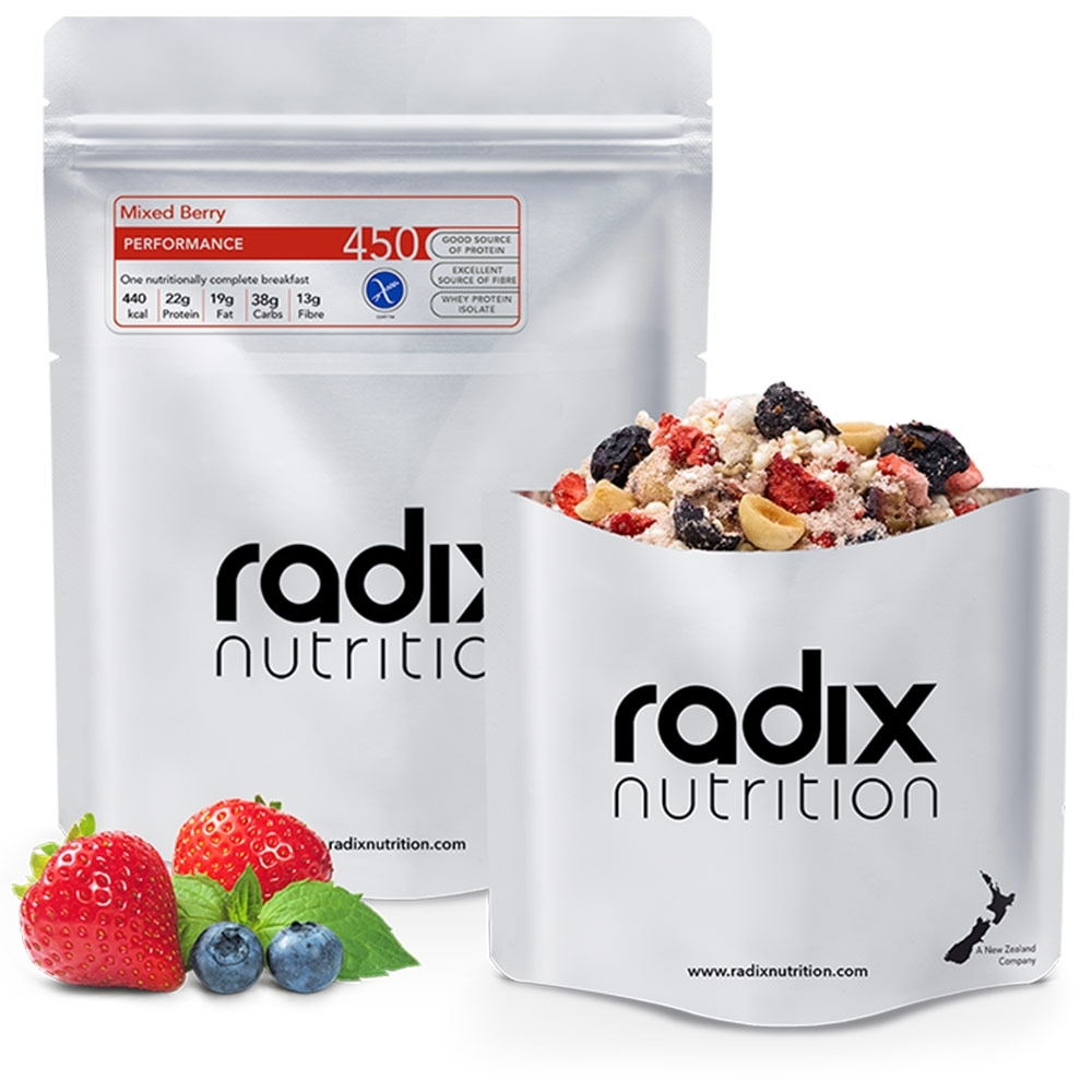 Radix Nutrition Mixed Berry Breakfast - PERFORMANCE 450 - A perfectly balanced and nutrient-dense breakfast to support energy levels and optimal physical and mental function