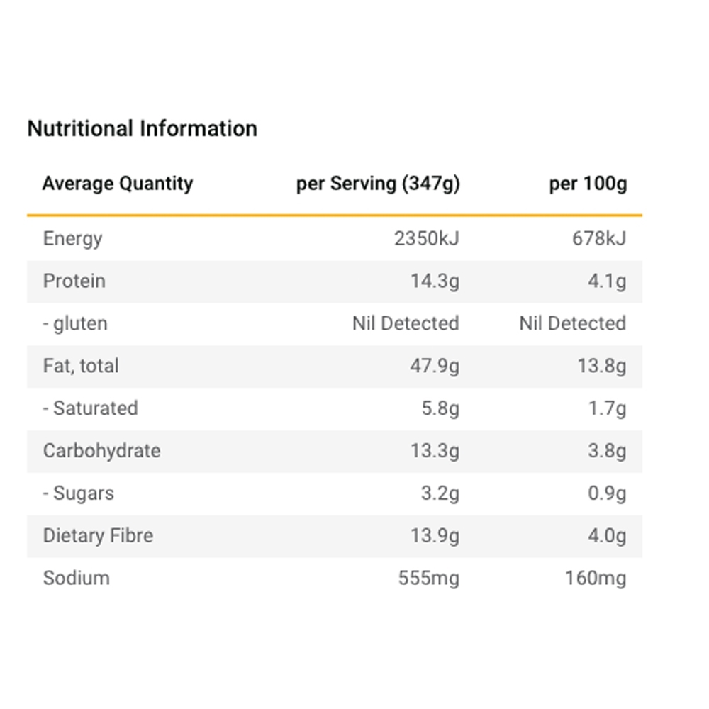 Radix Nutrition Plant-Based Indian Style Curry - KETO 600 - Nutritional Information
