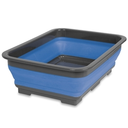 Popup 7L Tub Blue - A collapsible tub that features a plastic base and rim for added stability and strength with flexible TPE walls