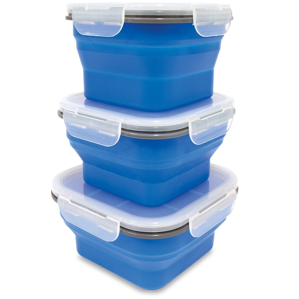 Popup Collapsible Containers - 770ml, 890ml and 1.2L capacity