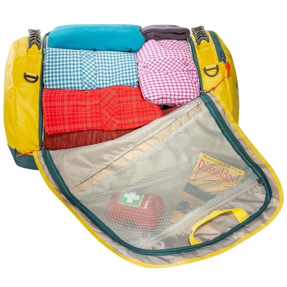 Tatonka Barrel Bag M 65L - Flat zipped mesh pocket under the lid