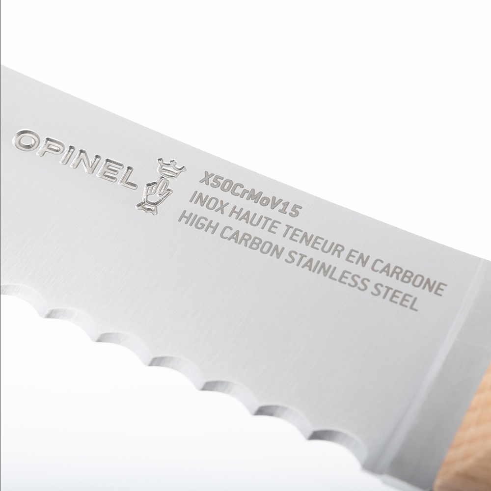 Opinel N°116 Bread Knife Parallèle - Made from anti-corrosive X50CrMoV15 stainless steel