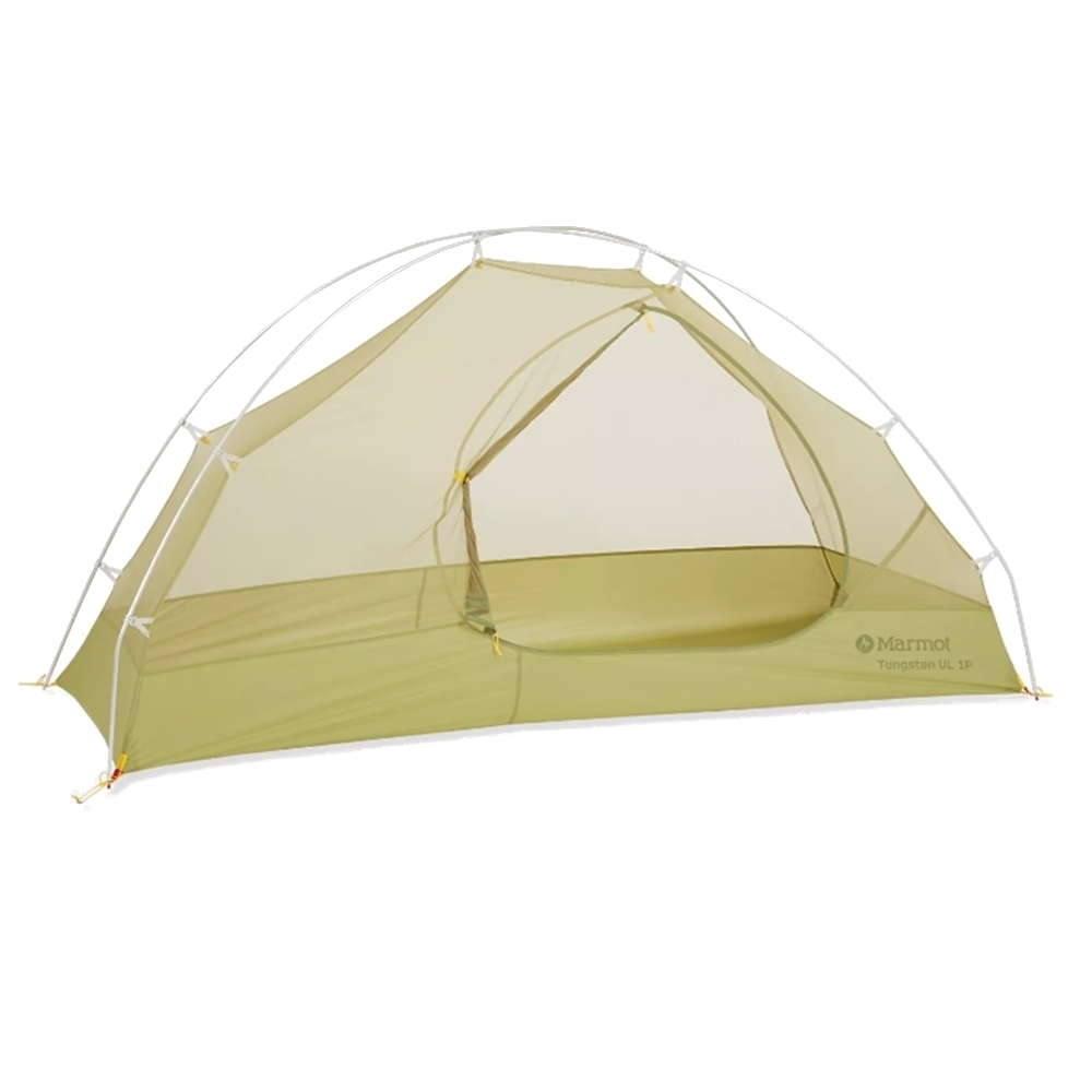 Marmot Tungsten UL 1P Hiking Tent - Wasabi - One front D shaped door and one vestibule
