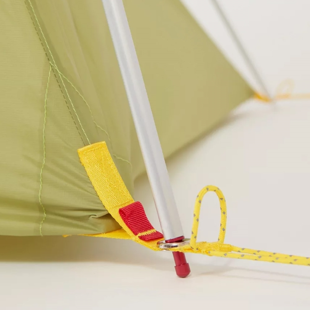 Marmot Tungsten UL 1P Hiking Tent - Wasabi - Colour coded easy pitchpoles and fly