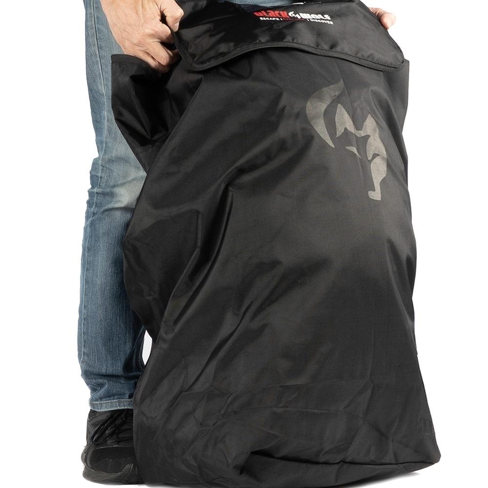 Black Wolf Pack Coverall - Locking zip closure
