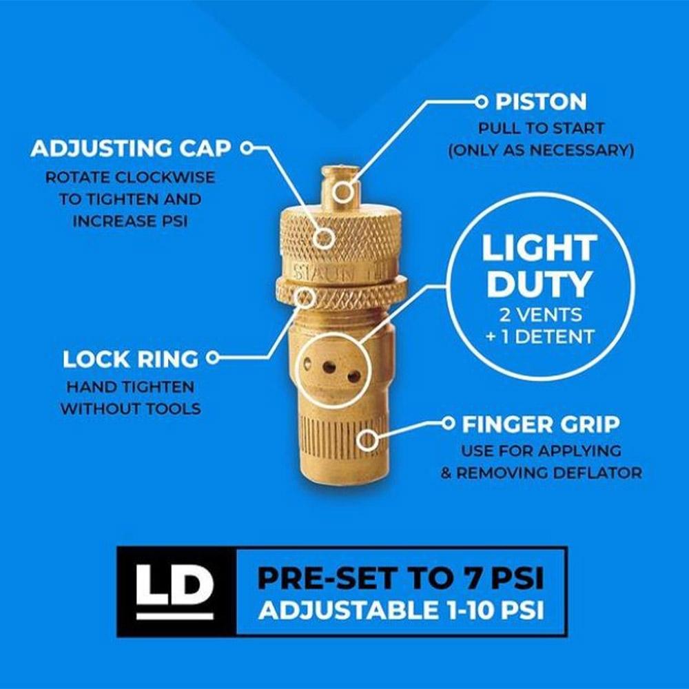 Staun Tyre Deflators Light (0-10psi) 4 Pack - Info