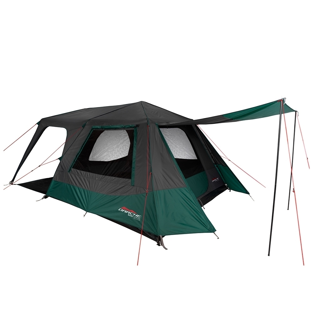 Darche KOZI Series 6P Instant Tent - Large rear awning with poles included