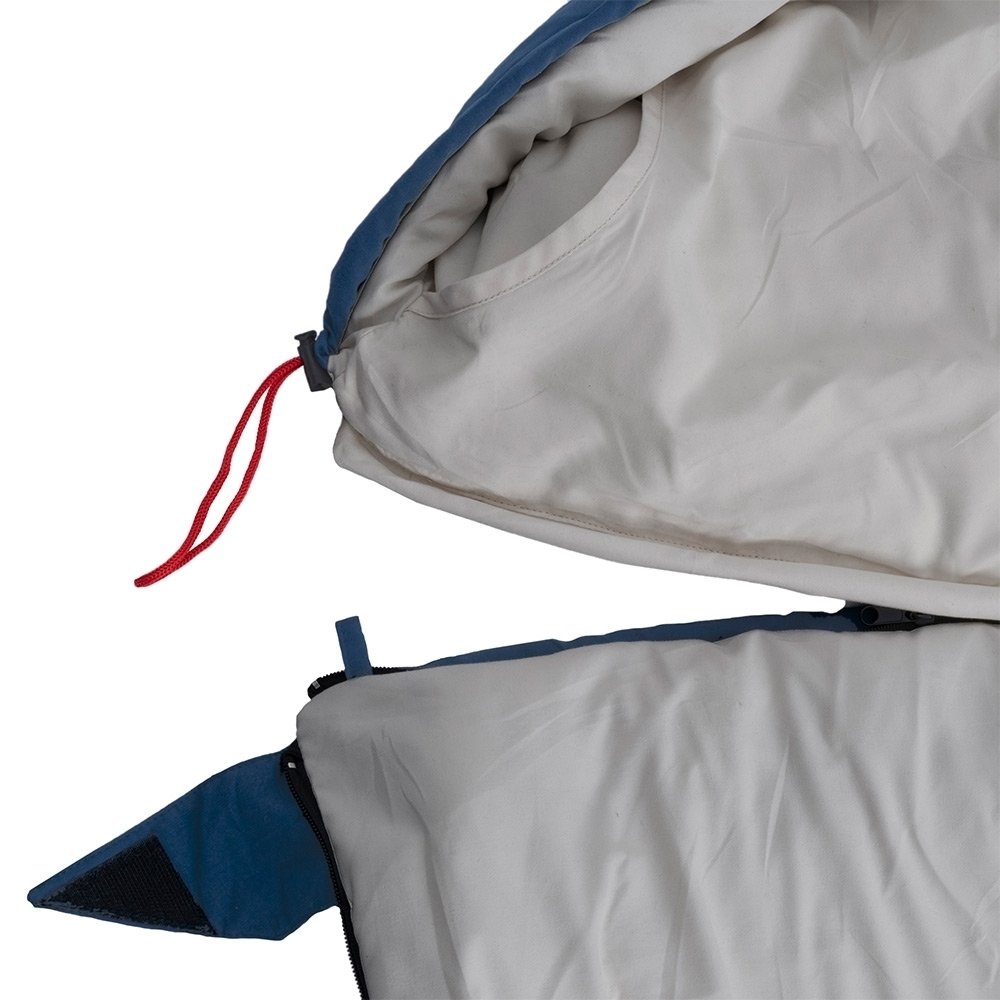 Darche KOZI Series Adult Sleeping Bag +5°C - Removable zip-off hood converts to a camper style sleeping bag