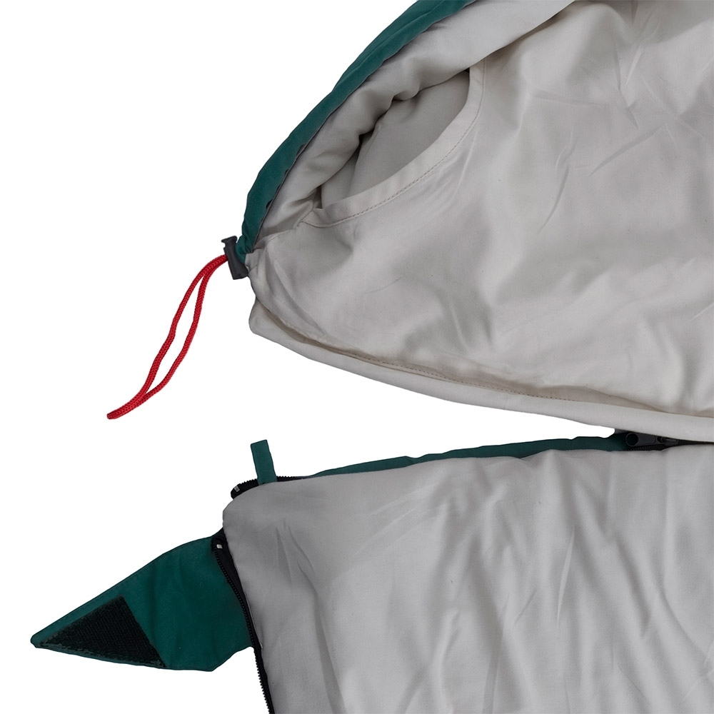 Darche KOZI Series Adult Sleeping Bag -5°C - Removable zip-off hood converts to a camper style sleeping bag