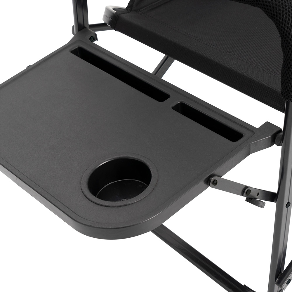 Darche KOZI Series Aluminium Directors Chair - Foldable side table with integrated drink, tablet and phone holder