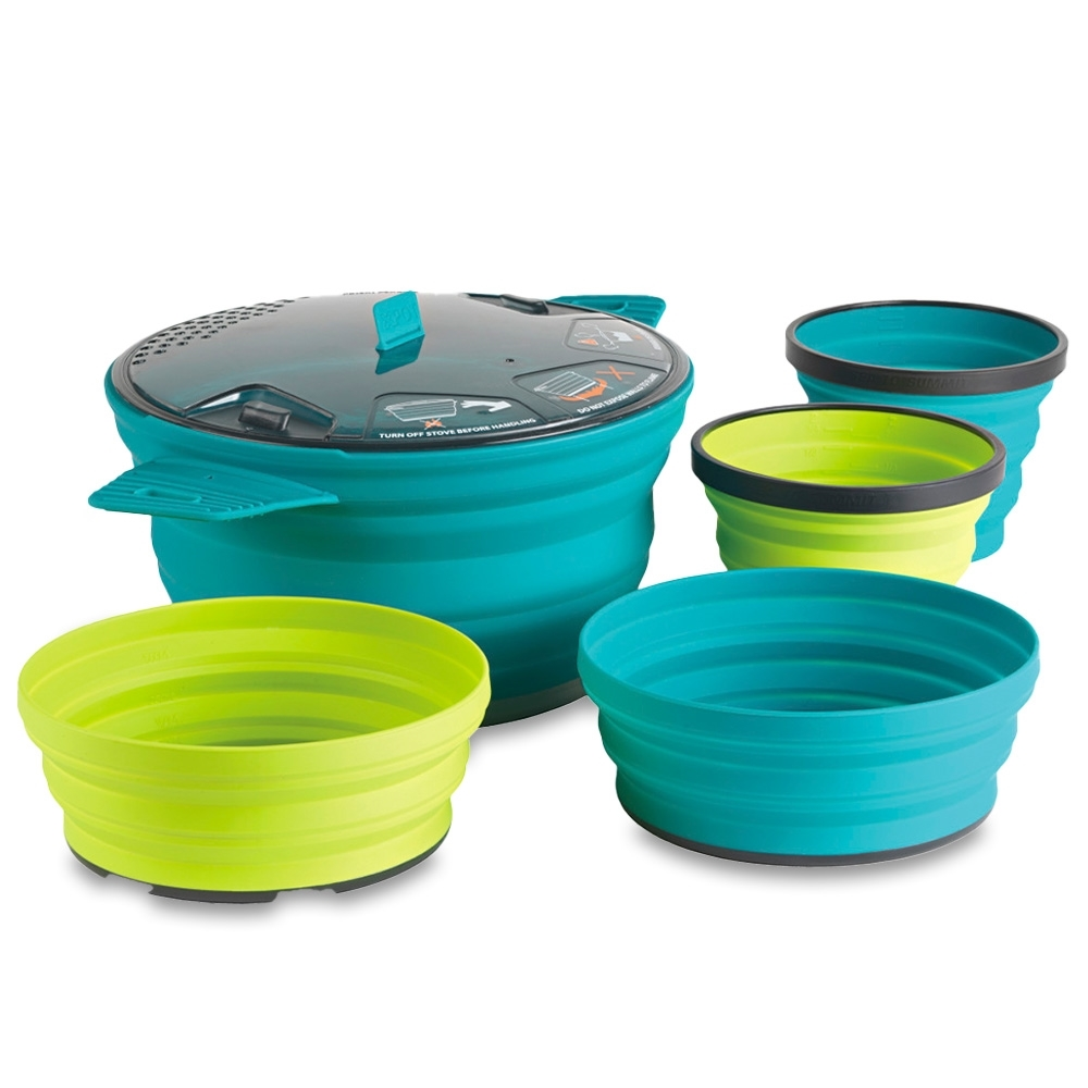 Sea to Summit X-Set 31 - 5 Piece Cookset Pacific Blue Lime
