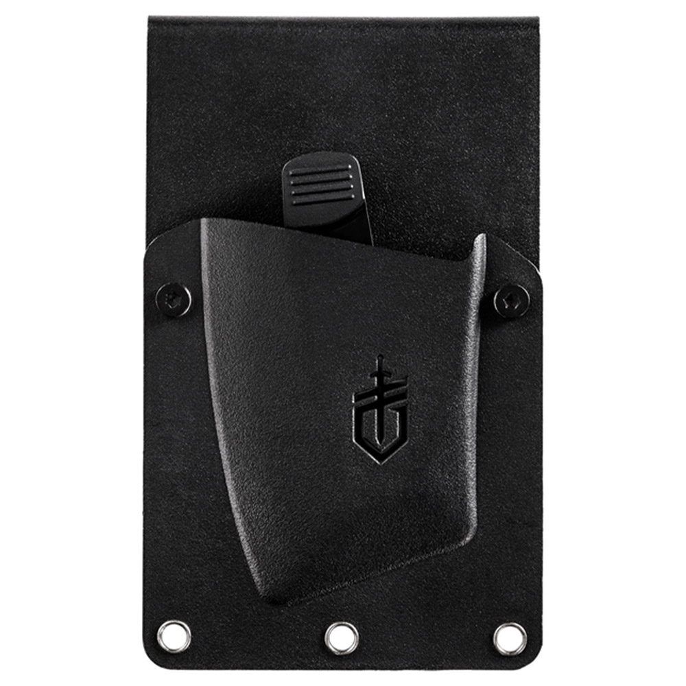 Gerber Tri-Tip Mini Cleaver - Multi-mount sheath can to be carried in two positions: tip down or scout carry