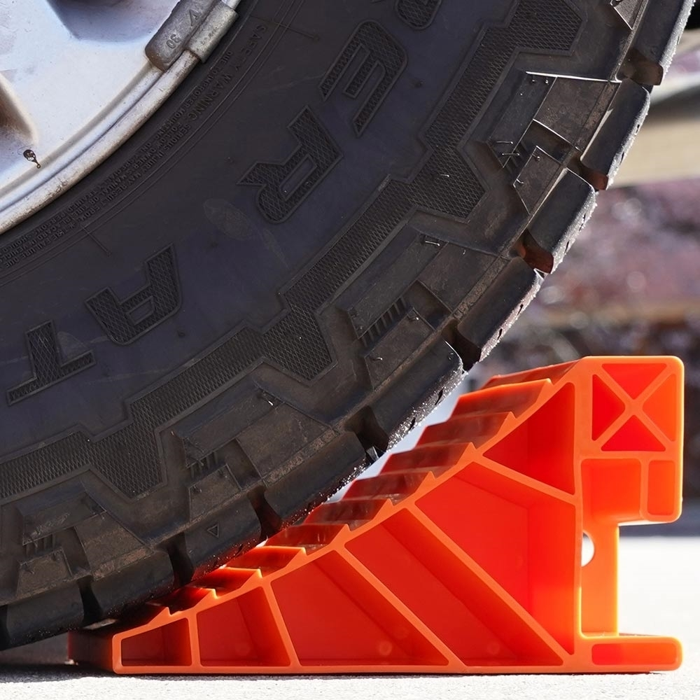 Explore Wheel Chocks - Place on flat surface and push firmly under tyres