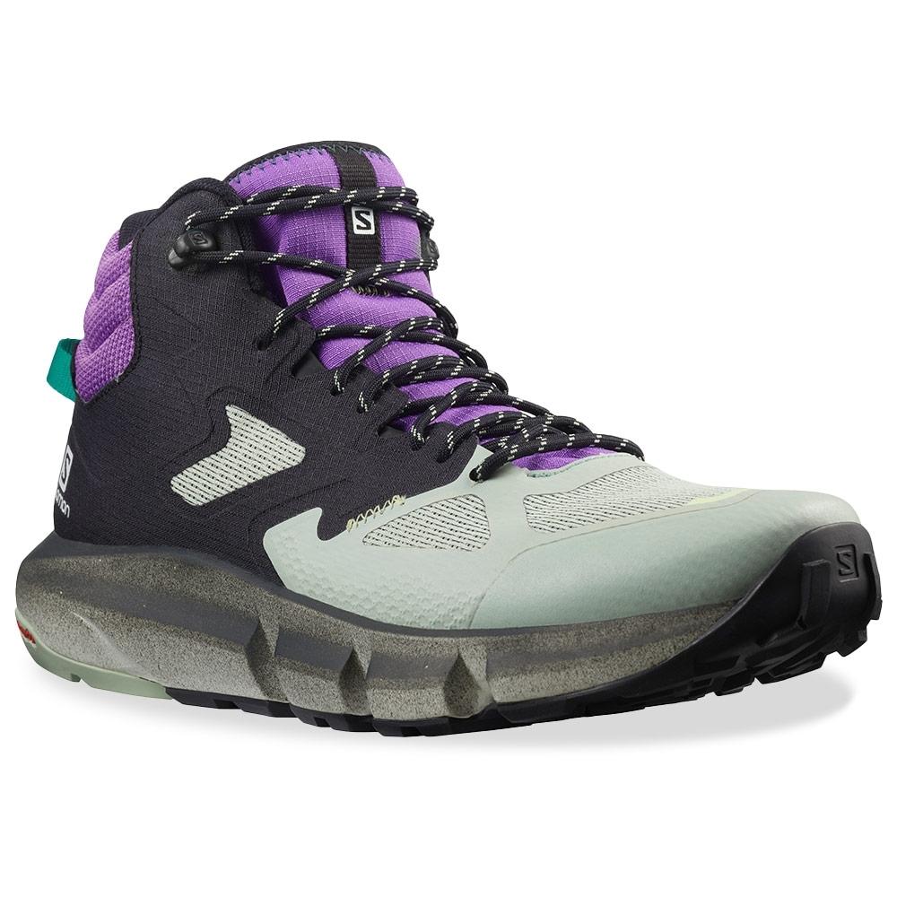Salomon Predict Hike Mid GTX Men's Shoe Black Aqua Gray Royal Lilac