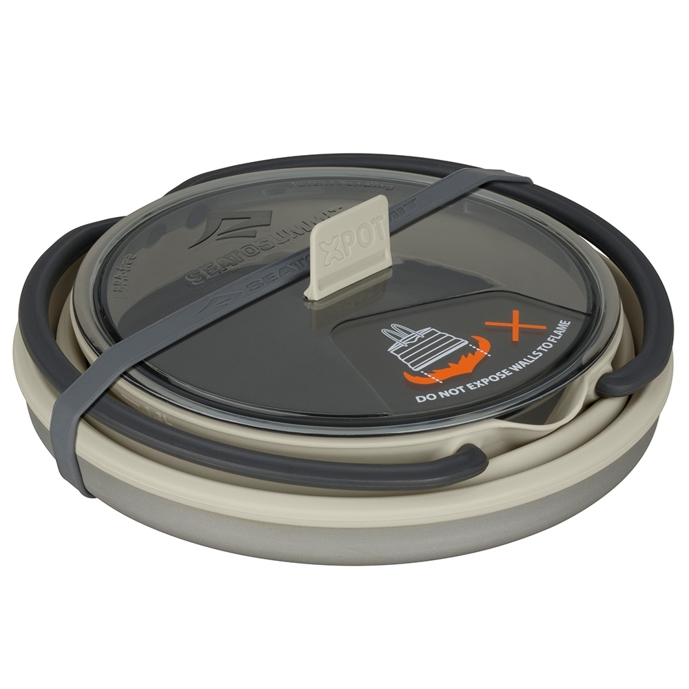 Sea to Summit X-Set 32 - 3 Piece Cookset - 1.3L X-Pot Kettle collapsed