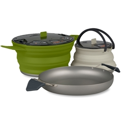 Sea to Summit X-Set 32 - 3 Piece Cookset - Charcoal Olive Sand