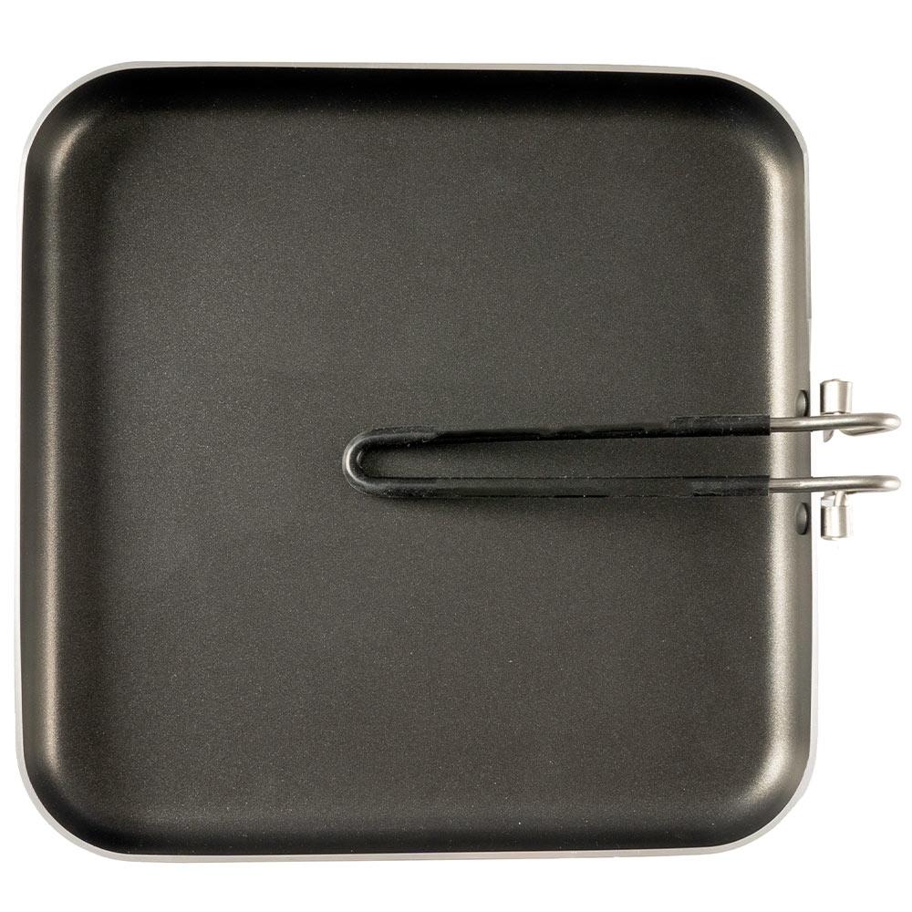 "GSI Outdoors Bugaboo 10"" Square Frypan - SureLock folding handle"