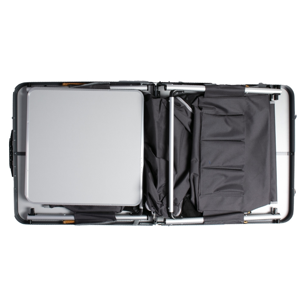 OZtrail Folding Table with Storage - Easy to fold and transport