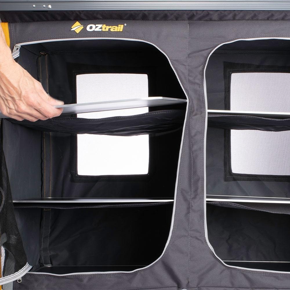 OZtrail 3 Shelf Deluxe Double Cupboard