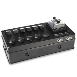 Powertech DC Control Box for External Battery with Voltage Display - Includes 2 x 50A Andersons + 6 x Switches + 3 x Cigarette Sockets + USB Socket and Fuse Block