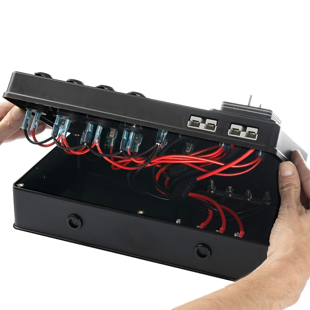 Powertech DC Control Box for External Battery with Voltage Display