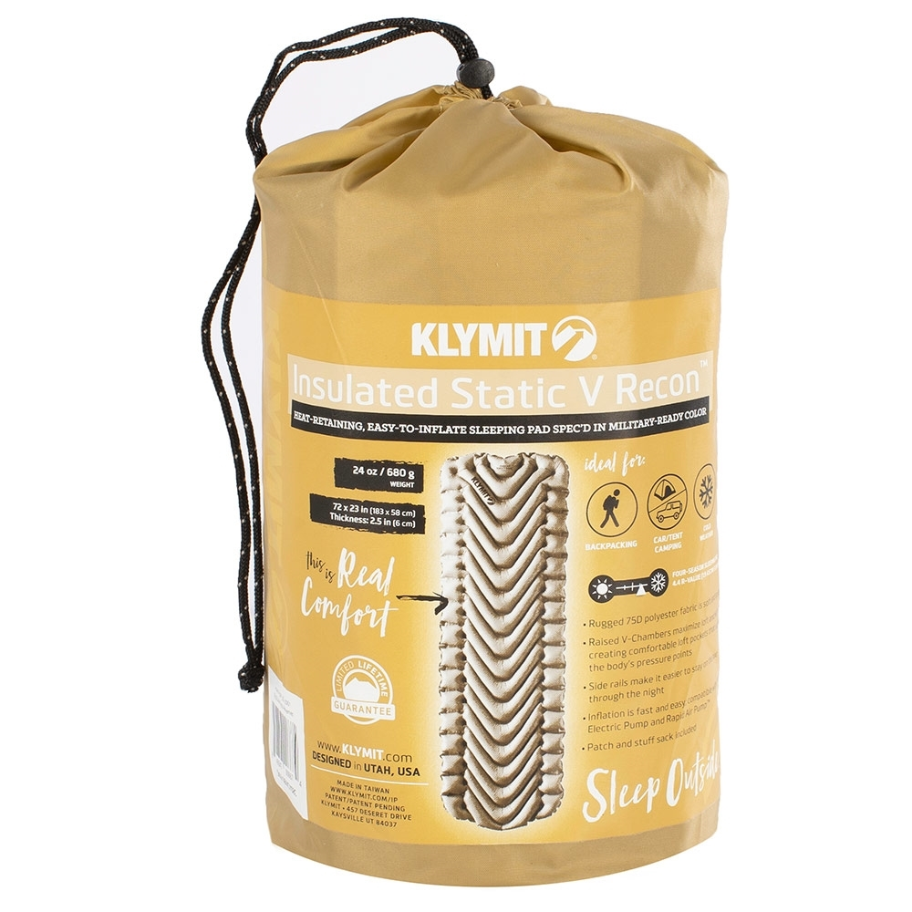 Klymit  Insulated Static V Sleeping Pad - Packaging