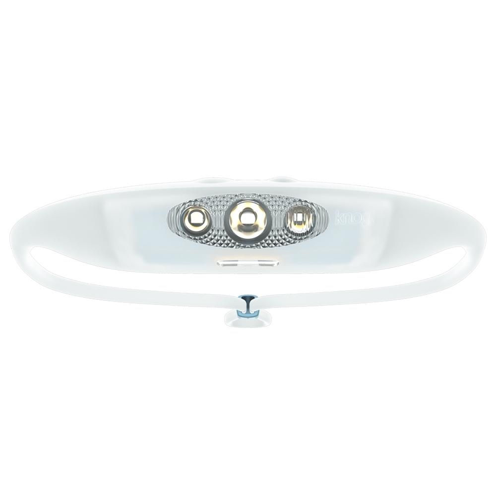 Knog Bandicoot Run 250 Headlamp - 5 LEDs – 2 elliptical beams for wide & mid beam angles, red light & high beam