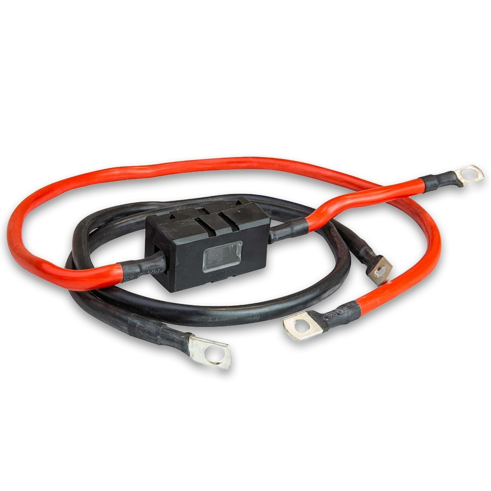 Hard Korr 5AWG Inverter Cable with 80A Fuse - Designed to provide a connection between the Hardkorr 600w Pure Sine Wave Inverter and your battery