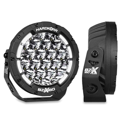 """Hard Korr BZR-X Series 7"""" LED Driving Lights with Wiring Harness - Featuring Lumileds LEDs"""