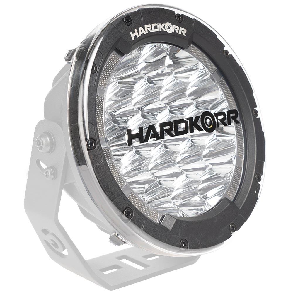 Hard Korr Driving Light Covers - Clear - On light