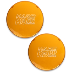 Hard Korr Driving Light Covers - Orange - Pair - 9 Inch