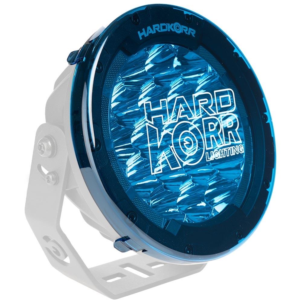 Hard Korr Driving Light Covers - Blue - On light