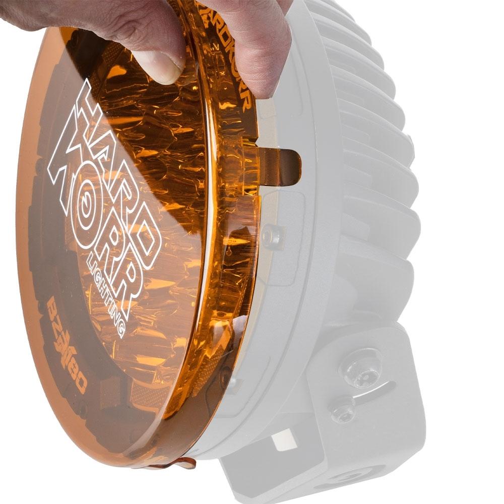 Hard Korr Driving Light Covers Orange - Pair