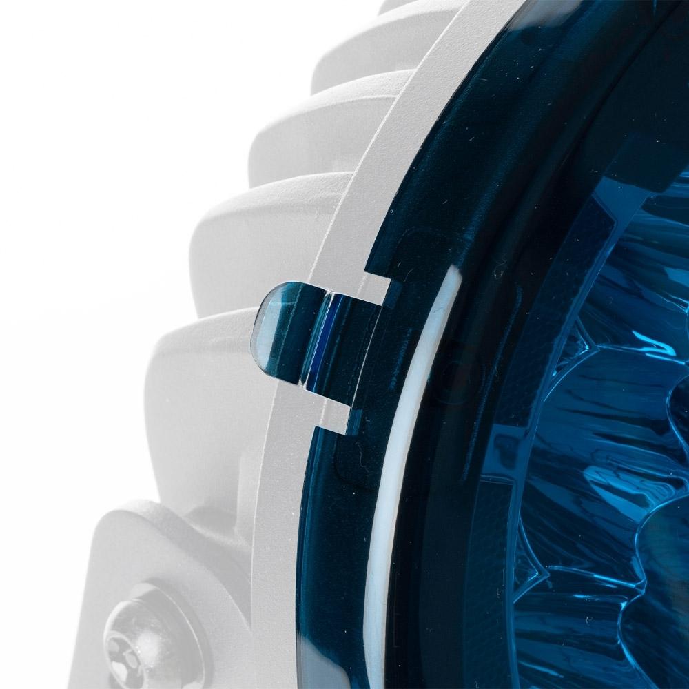 Hard Korr Driving Light Covers - Blue - Pair