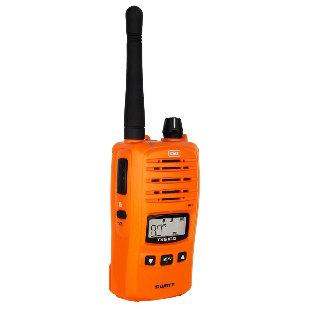 GME 5 Watt UHF CB Handheld Radio Blaze Orange TX6160XO - High contrast backlit LCD screen
