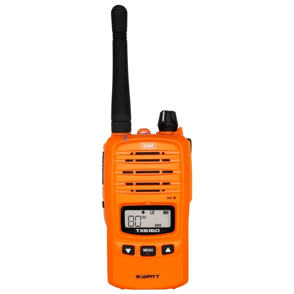 GME 5 Watt UHF CB Handheld Radio Twin Pack Blaze Orange TX6160OTP - Bright blaze orange colour