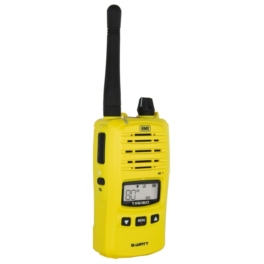 GME 5 Watt UHF CB Handheld Radio Twin Pack Yellow TX6160YTP - High contrast backlit LCD screen
