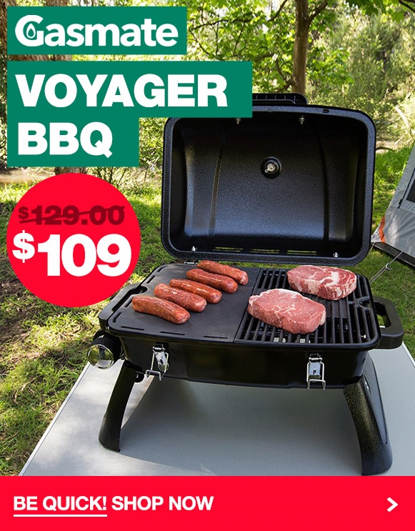 Crazy low price for the very popular Gasmate Voyager BBQ!