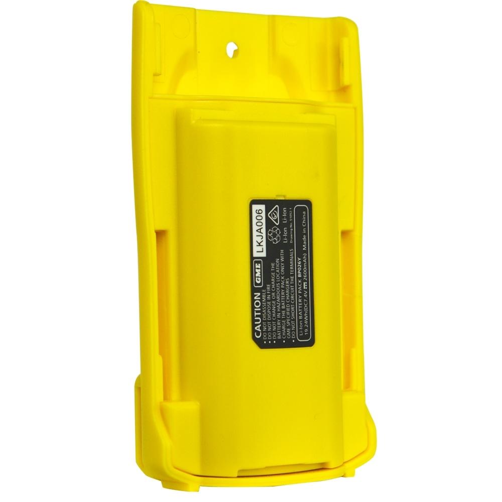 GME 5 Watt UHF CB Handheld Radio Twin Pack Yellow TX6160YTP - 2 x 2600mAh Li-Ion Battery Packs (BP026Y)