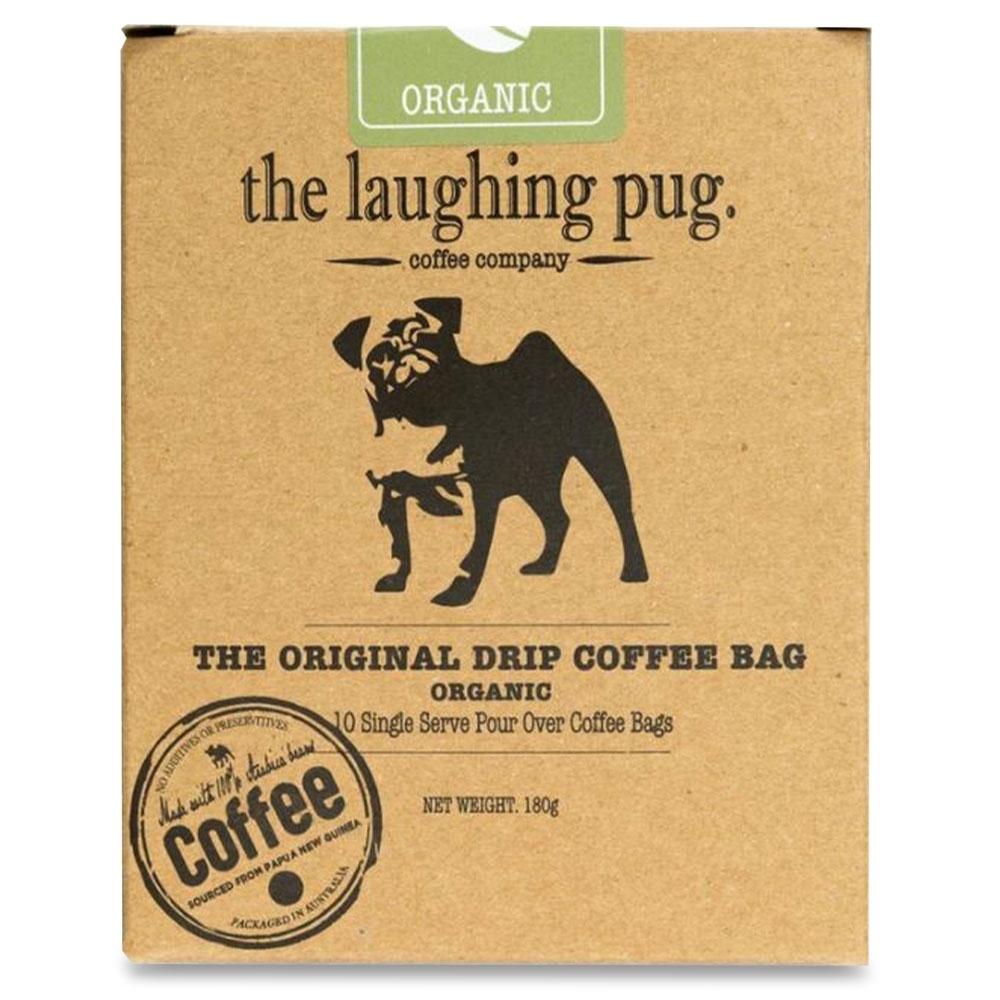 The Laughing Pug Drip Coffee Bag 10Pk Organic