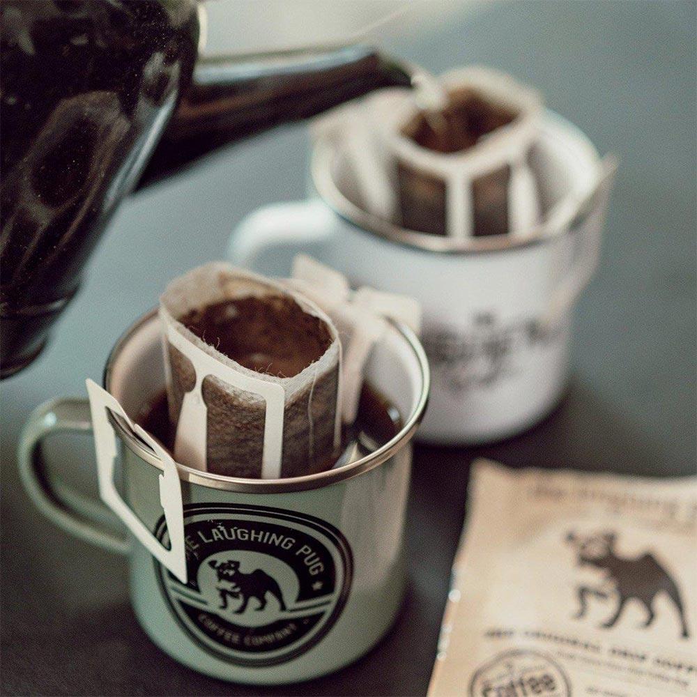 The Laughing Pug Drip Coffee Bag 10Pk