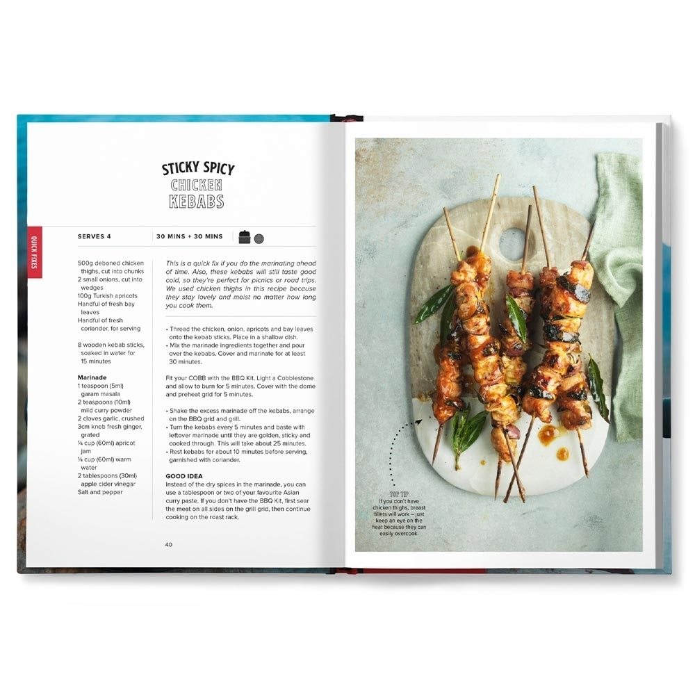 Cobb Anywhere But The Kitchen Recipe Book - Ideas for grilling, frying, roasting, and more