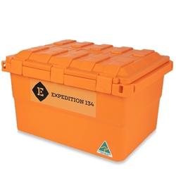 Expedition134 Heavy Duty Plastic Storage Box 55L Fire Orange