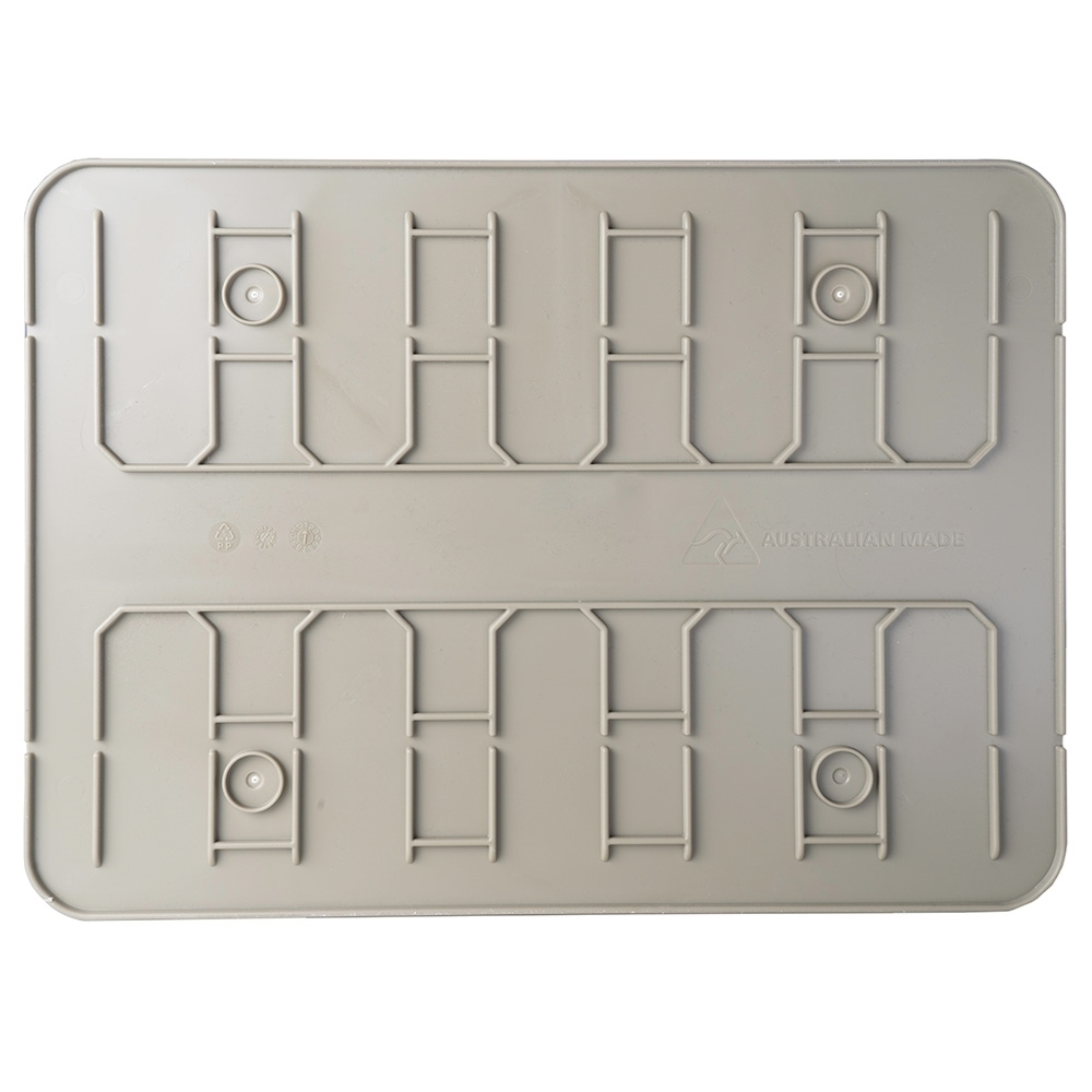 Expedition134 Heavy Duty Plastic Storage Box 55L - Rigid base that locks into the lid of another box