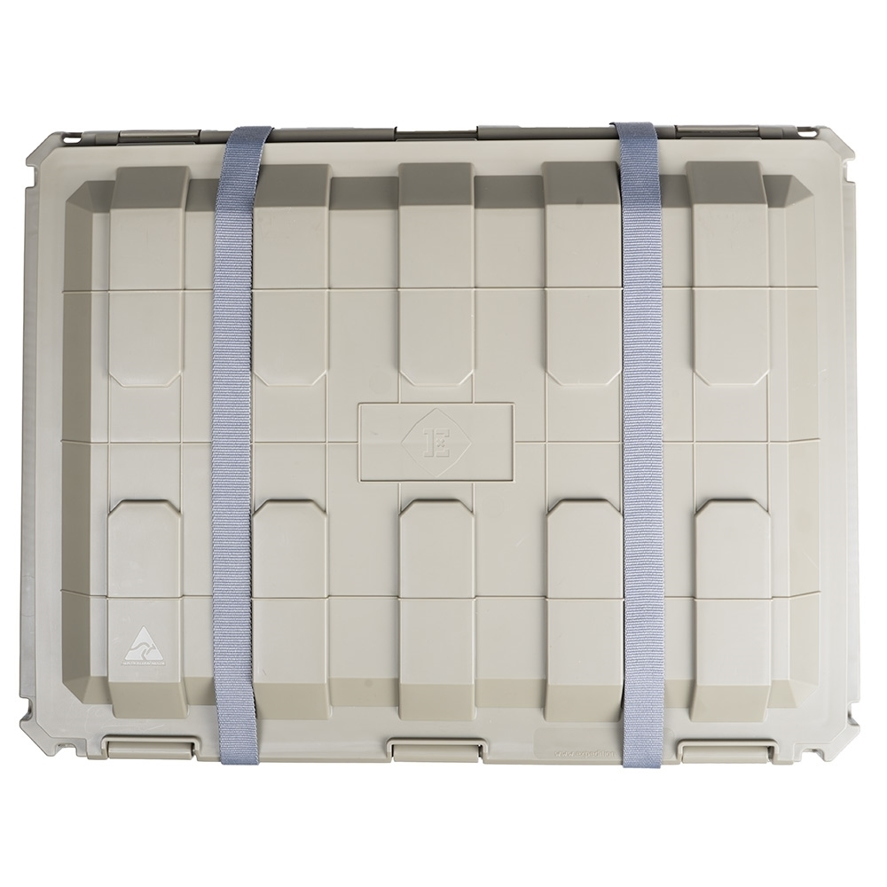 Expedition134 Heavy Duty Plastic Storage Box 55L - Grooves for tie-down straps
